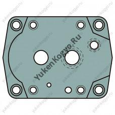Плиты для стыкового монтажа для пропорциональных редукционно- предохранительных гидроклапанов Yuken