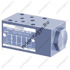 Гидроклапаны обратные модульного монтажа для линии Р, Ду 005 Yuken