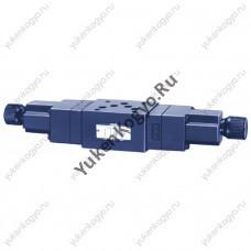 Регуляторы расхода с обратным клапаном модульного монтажа с компенсатором давления и температуры, Ду 3/8 Yuken