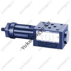 Регуляторы расхода с обратным клапаном модульного монтажа с компенсатором давления и температуры, Ду 1/8 Yuken