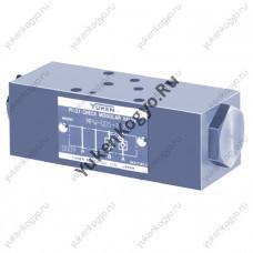 Клапаны обратные управляемые модульного монтажа (гидрозамок), Ду 005 Yuken