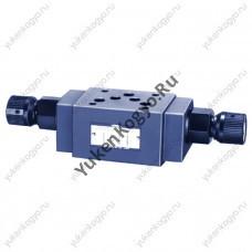 Дроссель с параллельным обратным клапаном модульного монтажа с компенсатором температуры, Ду 3/8 Yuken