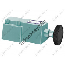 Предохранительный гидроклапан дистанционного управления Yuken, стыковой монтаж на плите
