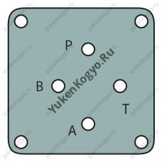 Монтажные плиты для гидрораспределителей Yuken с электромагнитным управлением (Ду 3/8) серии DSG-3
