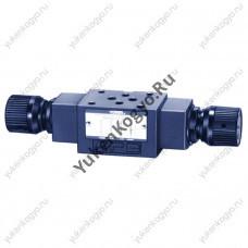 Дроссель с параллельным обратным клапаном модульного монтажа с компенсатором температуры, Ду 1/8 Yuken