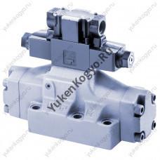 Управляемые гидрораспределители с электромагнитным управлением безударного типа Yuken S-DSHG-10-3C2-C2-E-D24-43